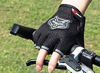Перчатки велосипедные беспалые вело велоперчатки черные Grid