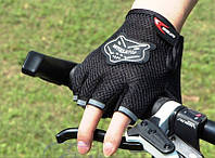 Перчатки Grid велосипедные беспалые вело велоперчатки черные, фото 1