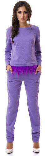Костюм женский перья брюки косичка