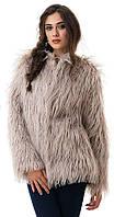 Шуба женская короткая лама