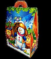 "Упаковка новогодняя ""Домик Дед Мороз"" для сладостей 400-500 г"