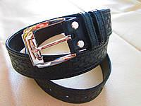 Кожаный ремень 40 мм с тиснением , фото 1