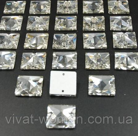 Стразы пришивные Квадрат 12 мм Crystal, стекло