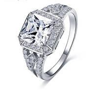 Позолоченное кольцо с цирконами р 17 код 312