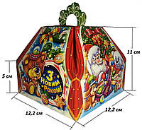 """Новогодняя упаковка """"Скринька червона"""" для подарков 300-400г в ассортименте"""
