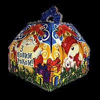 """Новогодняя упаковка """"Скринька синя"""" для подарков 300-400г в ассортименте"""