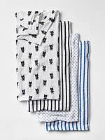 Муслиновые пеленки для мальчика (4 шт) 120 x 120 см. Aden+Anais