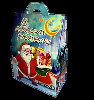 """Новорічна упаковка """"Домик-Олени Деда Мороза"""" для сладостей 500 г"""