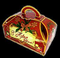"""Упаковка новорічна """"Сундук Вінтаж"""" для цукерок 500-600 г"""