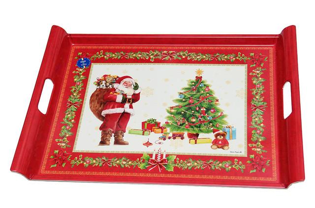 """Поднос """"Рождество"""" красный  52X37 код R0200-XREDNV"""