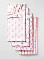 Муслиновые пеленки для девочки (4 шт) 120 x 120 см. Aden+Anais