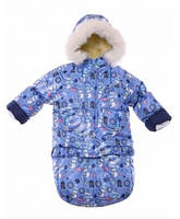 Детский зимний комбинезон-трансформер с меховой отделкой