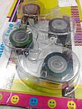 Набор декоративных скотч-лент 4шт. 12мм х 2,8м с диспенсером, фото 2