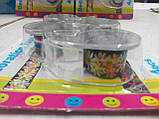 Набор декоративных скотч-лент 4шт. 12мм х 2,8м с диспенсером, фото 3