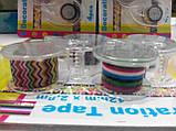 Набор декоративных скотч-лент 4шт. 12мм х 2,8м с диспенсером, фото 4