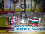Набор декоративных скотч-лент 4шт. 12мм х 2,8м с диспенсером, фото 8