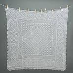 Оренбургский платок пуховый ажурный(паутинка)100х100см.Цвет: белый, черный., фото 2