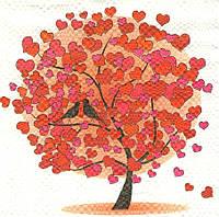 Редкая салфетка Любовное дерево 6333