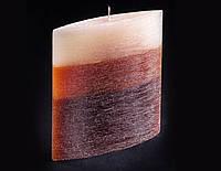 Свеча трехцветная карамельно-коричневая Лодочка
