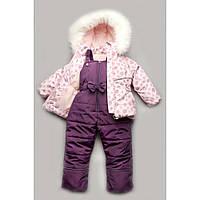 Зимний детский костюм-комбинезон Bubble pink для девочки Модный карапуз 03-00602-0