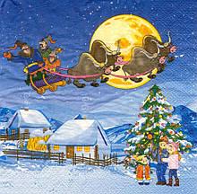 Декупажная салфетка Украинское Рождество 6339