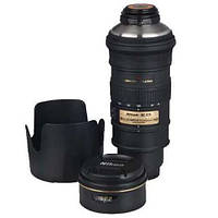 Термос объектив Nikon 70-200mm черный, термокружка/чашка/кружка