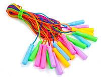 Скакалка детская с PVC жгутом плетенным FI-4864 (10шт в уп., цена за 1шт) Неон  (длина - 2,7 м, толщина - 5 мм)