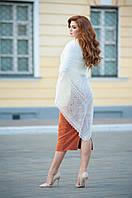 Оренбургский пуховый  платок 130х130 см. Белый