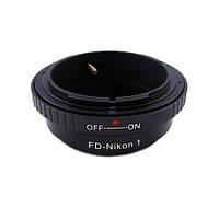 Переходник адаптер Canon FD - Nikon 1 J1, кольцо Ulata