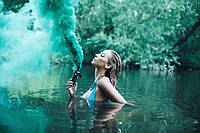 "Цветной дым зеленый ""Maxsem"" найнасиченіший(дим13), кольоровий дим димова шашка"