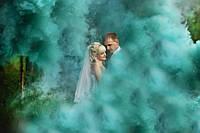 Зеленый цветной дым середньої насиченості, цветной дым димова шашка, зелений, 50 сек.
