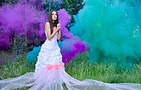Цветной дым зеленый (звичайної насиченості(дим11), кольоровий дим димова шашка