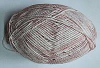 Стоковая пряжа для вязания - анти-пиллинг, розовый  меланж, 400 грамм