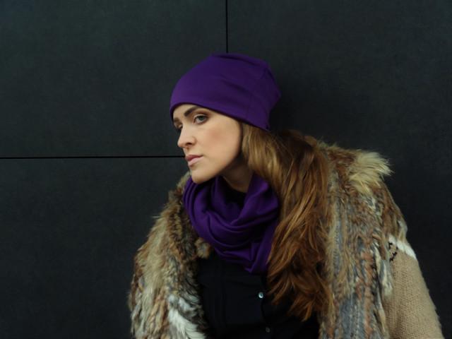 Трикотажные шарфы/снуды однотонные