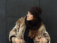 Шоколадный  шарф снуд , фото 1