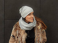 Светло-серый шарф снуд , фото 1