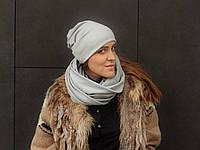 Светло-серый шарф снуд