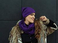 Фиолетовый сливовый шарф снуд