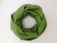 Зеленый травяной шарф снуд