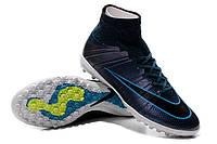 Футбольные сороконожки Nike MercurialX Proximo TF Squadron Blue/Black/White