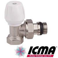 Кран радиаторный верхний угловой 1/2 Icma 802+940