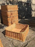 Лоток плетеный из лозы H10-35/25