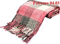 Плед  полуторный 140х200, тм. VLADI, Палермо «Palermo» 04.03 (бел-сер-роз)
