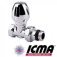 Кран хромированный радиаторный верхний прямой 1/2 Icma 1117