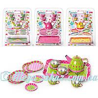 """Набор детской посуды """"Кукольный сервиз"""" на 4 персоны: 14 предметов, железный"""