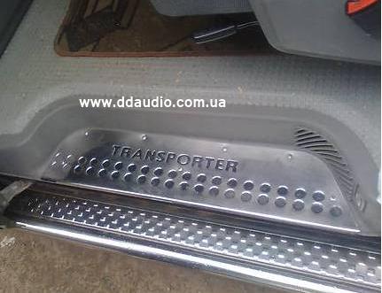 Накладки на пороги (3 шт, сталь) - Volkswagen T4 Transporter