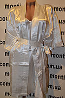 Атласный халат с пеньюаром