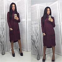 Женское стильное платье-трапеция ангора (2 цвета) с карманами , фото 1