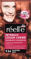 Крем - краска для волос réell'e Intensive Color Creme Kupfer Rot, 7.34 (медно - красный)