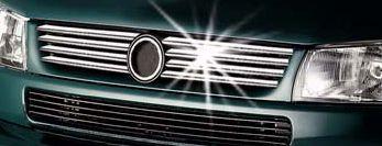 Накладка на решетку (8 шт, нерж.) - Volkswagen T4 Caravelle/Multivan